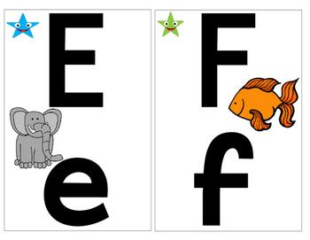 Zoo Phonics Alphabet Wall Cards {Clip Art Images}