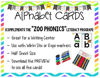 Zoo Phonics Alphabet Wall Cards {Clip Art Images}