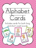 Alphabet Wall Cards {diagonal stripe}