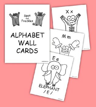 Alphabet Wall Cards featuring Spot and Freckles
