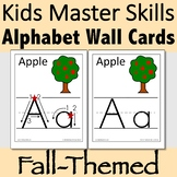 Alphabet Wall Cards for Fall with Handwriting Instruction or without