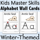 Alphabet Wall Cards for Winter with Handwriting Instructio