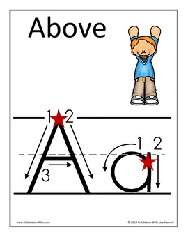 Alphabet Wall Cards for Spring with Handwriting Instruction or without