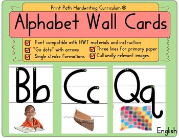 Alphabet Wall Cards: Single stroke formations compatible w