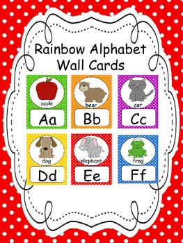 Alphabet Wall Cards/Colorful Dots