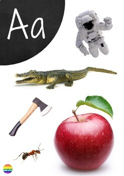 Alphabet Wall Charts with Real Life Photos