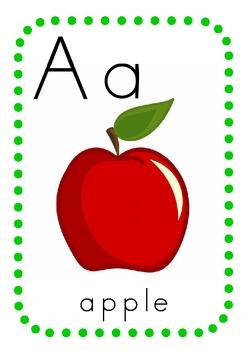 alphabet wall chart a z by top teacher teachers pay teachers