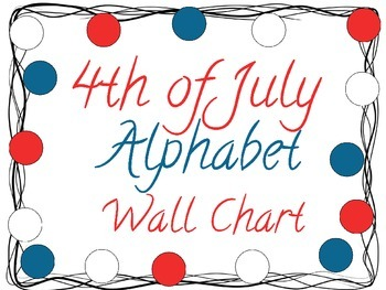 Fourth of July Alphabet Wall Chart