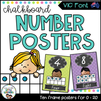 Victorian Font Number Posters {Chalkboard}