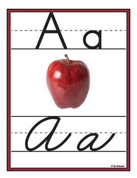 Alphabet Wall Charts - Zaner-Bloser Manuscript AND Cursive Alphabet-High Quality