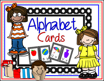 Alphabet Wall Display Cards /Pictures are Sing, Spell, Read, & Write Compatible