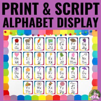 Alphabet Posters - Rainbow Theme