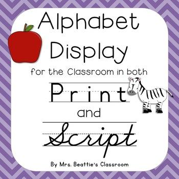 Alphabet Posters - Chevron Theme
