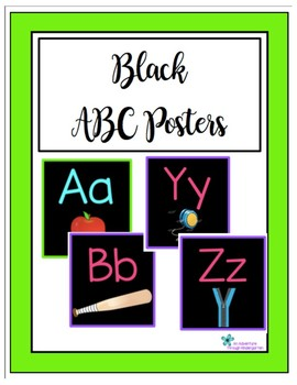 Black ABC Posters