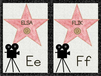 Alphabet Wall Letters Hollywood Theme