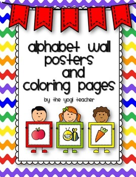 Alphabet Wall Cards and Coloring Pages