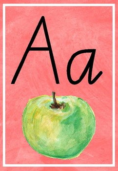 Alphabet Watercolor Posters