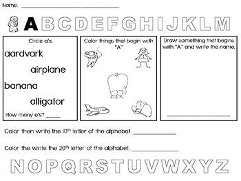 Alphabet Find - Kindergarten - First