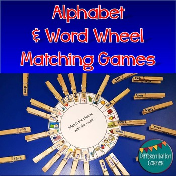 Alphabet & Word Wheel matching game