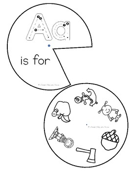 Letter Sounds and Letter Recognition Alphabet Wheels