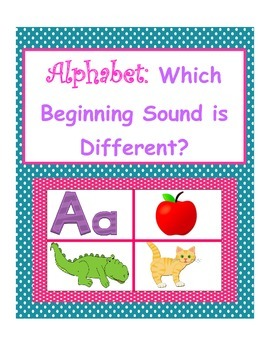 Beginning Sounds - Same and Different