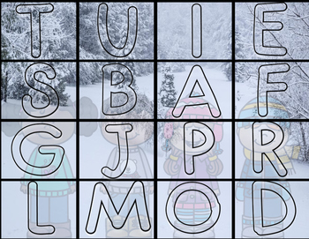 Alphabet Winter Puzzle
