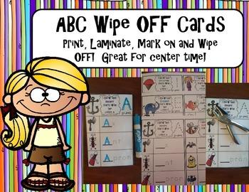 Alphabet Wipe Off Cards