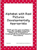 Alphabet With Real Pictures (Polka Dot)