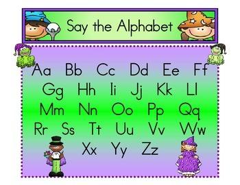 Alphabet Wizards-Say the Alphabet Mat