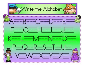 Alphabet Wizards-Write the Alphabet