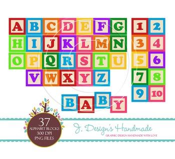 Alphabet Wooden Blocks Clipart - Alphabet - Blocks - Wood