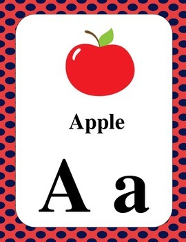 Alphabet Word Cards.  Great resource for your classroom or word wall.