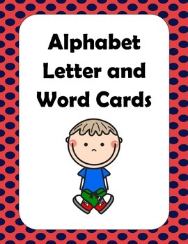 Alphabet Word Cards.  Great resource for your classroom or