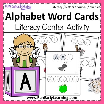 Alphabet Word Cards - Letters & Sounds Activity