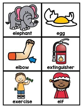 Alphabet Word Cards [Pocket Chart and Center Activities]
