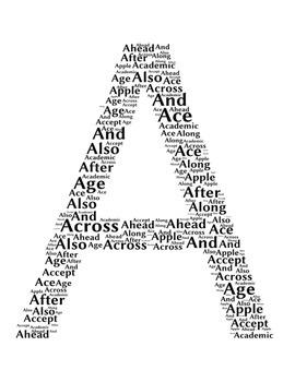 Alphabet Word Clouds