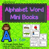 Alphabet Mini Books: Coloring Pages - Alphabet Worksheets for Kindergarten