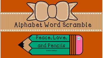 Alphabet Word Scramble