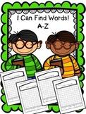 Alphabet Word Search Bundle - Letters A-Z