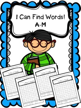 Alphabet Word Search - Letters A-M
