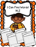 Alphabet Word Search - Letters N-Z