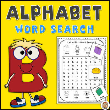 Alphabet Word Search Puzzles Letter B