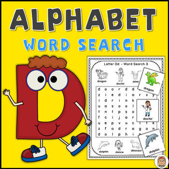 Alphabet Word Search Puzzles Letter D