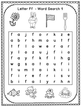 Free Alphabet Word Search Puzzles Letter F