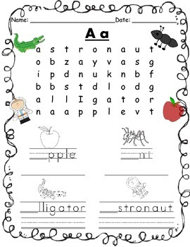 Alphabet Word Searches!