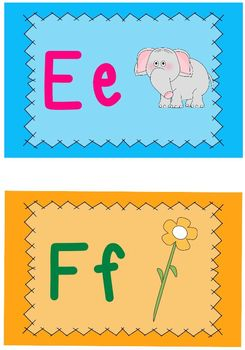 Alphabet Word Wall Cards
