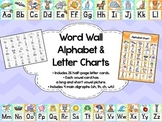 Chevron Alphabet Word Wall Cards, Charts & Digraph Cards w