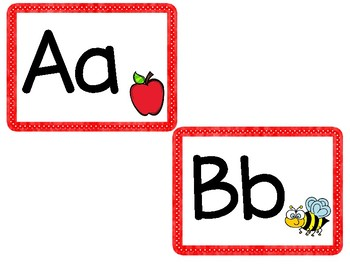 Alphabet Word Wall Cards (Bold, Simple, + Clear Letters)