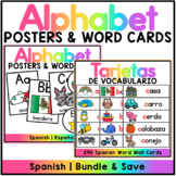 Spanish Word Wall & Alphabet Posters Bundle