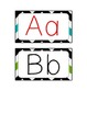 Word Wall Alphabet Cards - Chevron Border